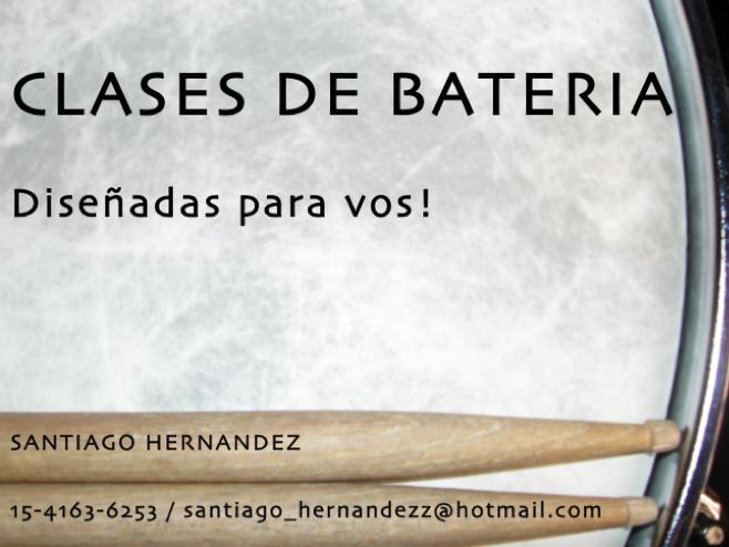 Clases de bateria x Santiago Hernandez www.santiagohernandez.com.ar